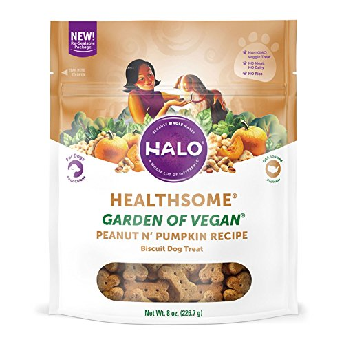 Halo Natural Crunchy Pumpkin vegan dog treats