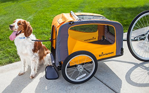 Medium dog pet bike trailer
