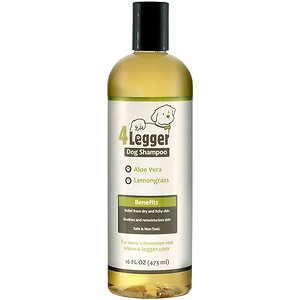 4-Legger Certified Organic Dog Shampoo – All Natural and Hypoallergenic with Aloe Vera and Lemongrass