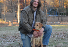 Man with Adult Dog