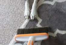 Dog hair broom